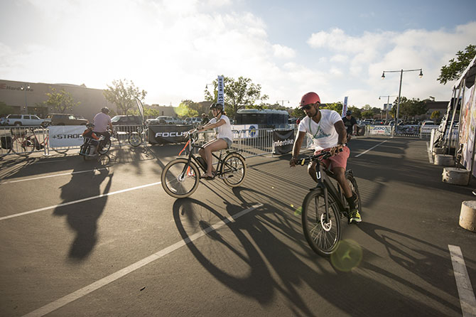 You can try over 80 different bikes for free at the Electric Bike Expo