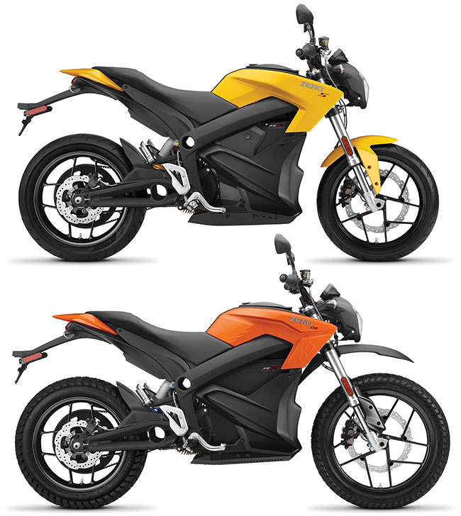 2017 Zero Motocycles DS and S Models