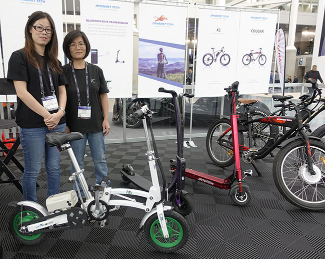 LA Auto Show Dynabike electric bicycles scooters