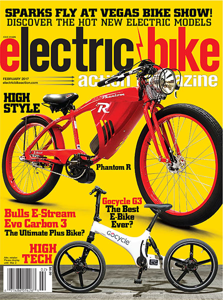 ON THE COVER: The Phantom R - an awesome, retro-styled, mid-drive electric bike by Phantom Bikes that we saw at Interbike, the international bike show in Las Vegas. Inset: Is the Gocycle G3 the future of electric bikes? Read our review starting on page 26.