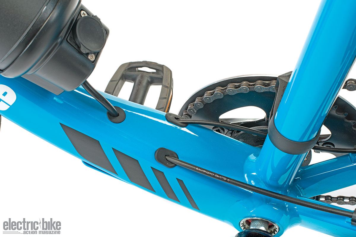 The Coeus has some really elegant touches that you'd expect on more expensive bikes, like internal cable routing.
