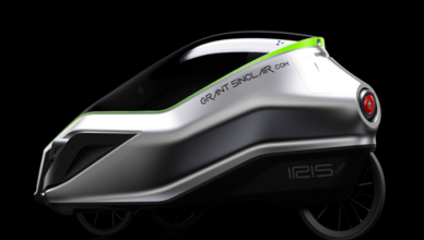 SINCLAIR'S SPACEY NEW ECO TRIKE INSPIRED BY AERODYNAMIC HELMETSSINCLAIR'S SPACEY NEW ECO TRIKE INSPIRED BY AERODYNAMIC HELMETS