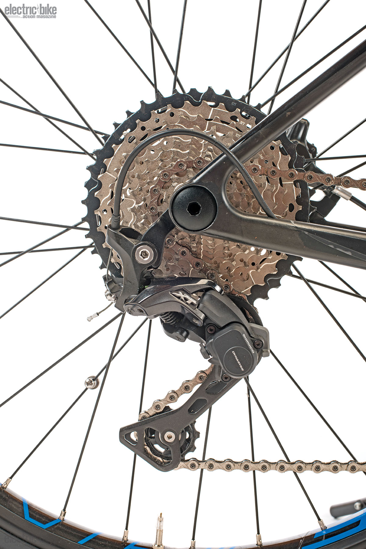 Shimano Deore XT components with the 11-speed cassette that offers really precise control.