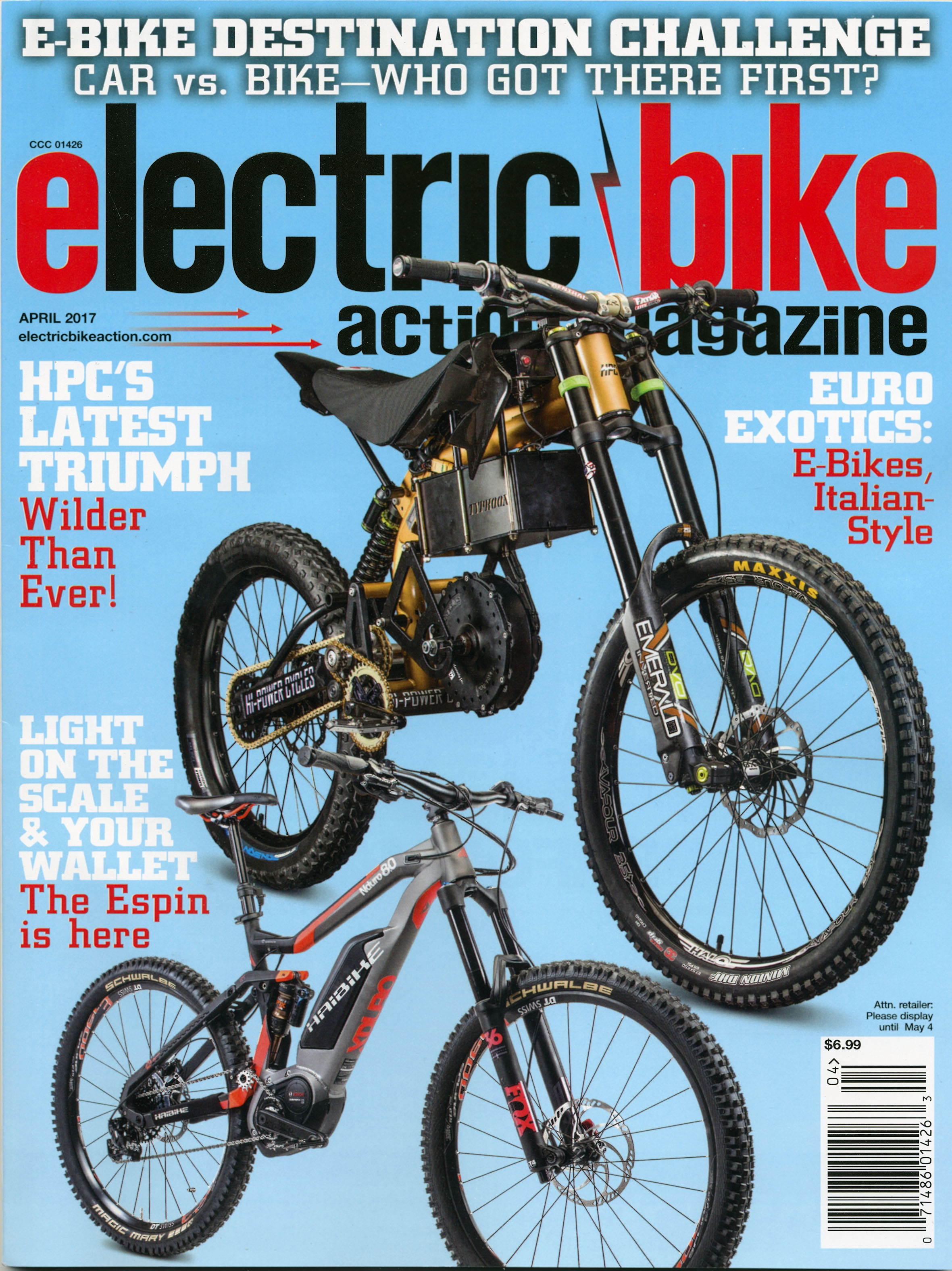 ON THE COVER: Hi-Power Cycles takes the already-insane Typhoon up a notch with the Typhoon Pro, and a rare static look at the Haibike Xduro Nduro 8.0