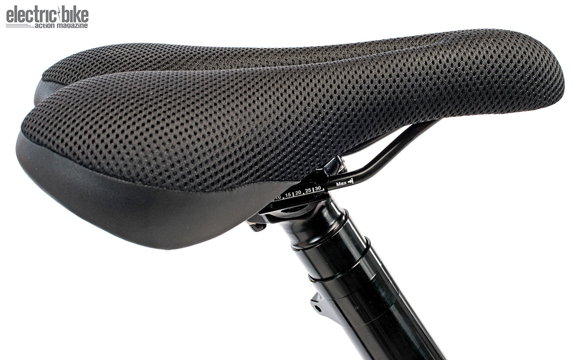 The saddle is very comfortable for short or long rides.