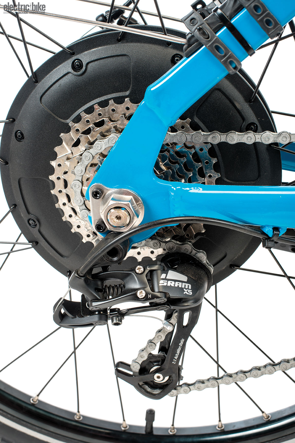 A SRAM X5 eight-speed rear cassette was reliable and a very nice touch on this bike.