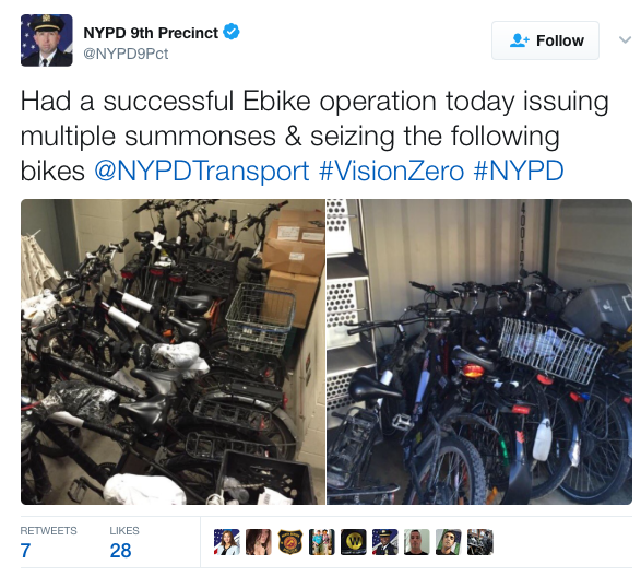 NYPD Crackdown on ebikes