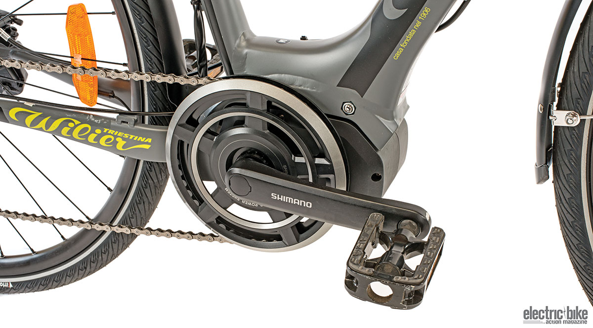 The Shimano cranks look like they were perfectly made specifically for this bike.
