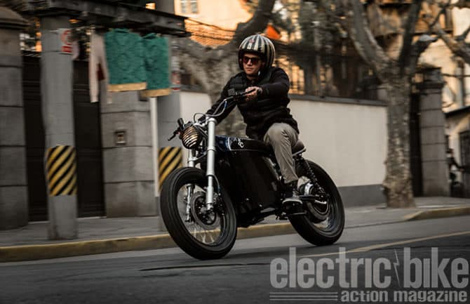 Shangahi Customs Electric Tracker Motorcycle