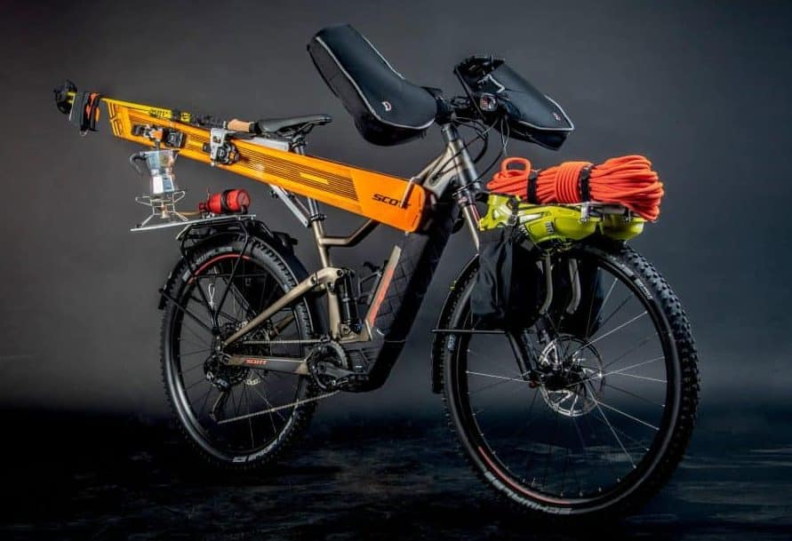 The Unique Electric Sk Eride Bike Addresses Needs Of Athletes For Support In Mountain Roaches Combining E Technology And Smart Gear Storage