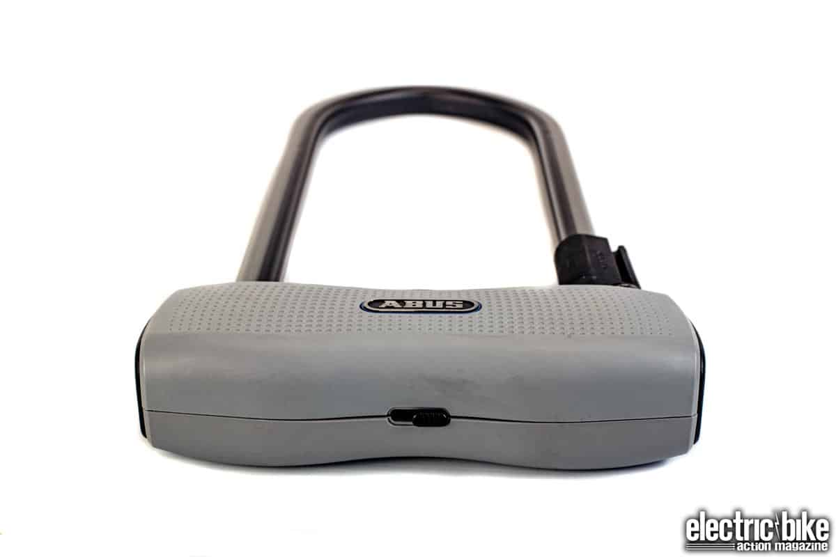 Gray//Blue 11.8 Square Shackle Abus 770A SmartX Keyless U-Lock